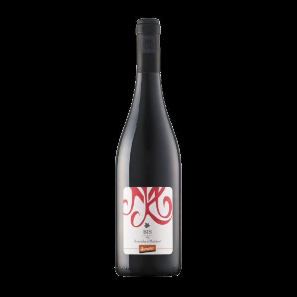 Svež Bis. Vino Bis, rdeče vino, letnik 2018. Sveže vino.