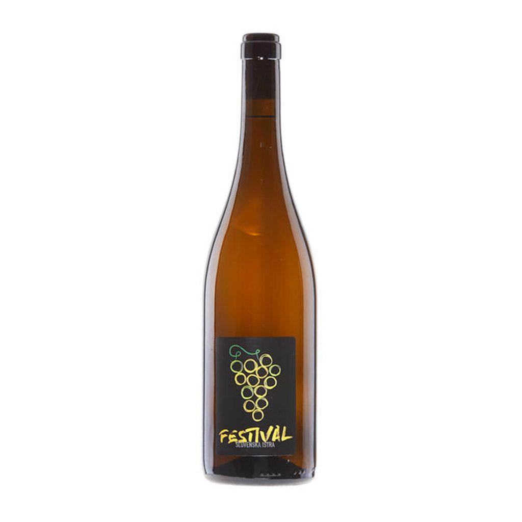 Festival, belo vino - zvrst malvazije in belega pinota. Sadna malvazijaprevladuje nad nevtralnejšim belim pinotom.