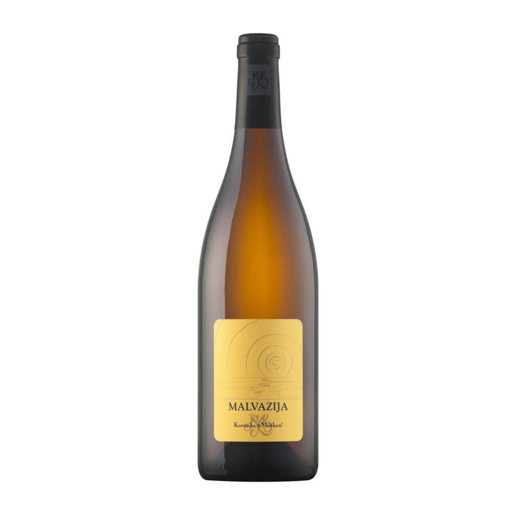 Vino Malvazija Selekcija, belo vino globlje jantarne barve. Suho vino, krepkejše, intenzivnega okusa in še daljšega pookusa.