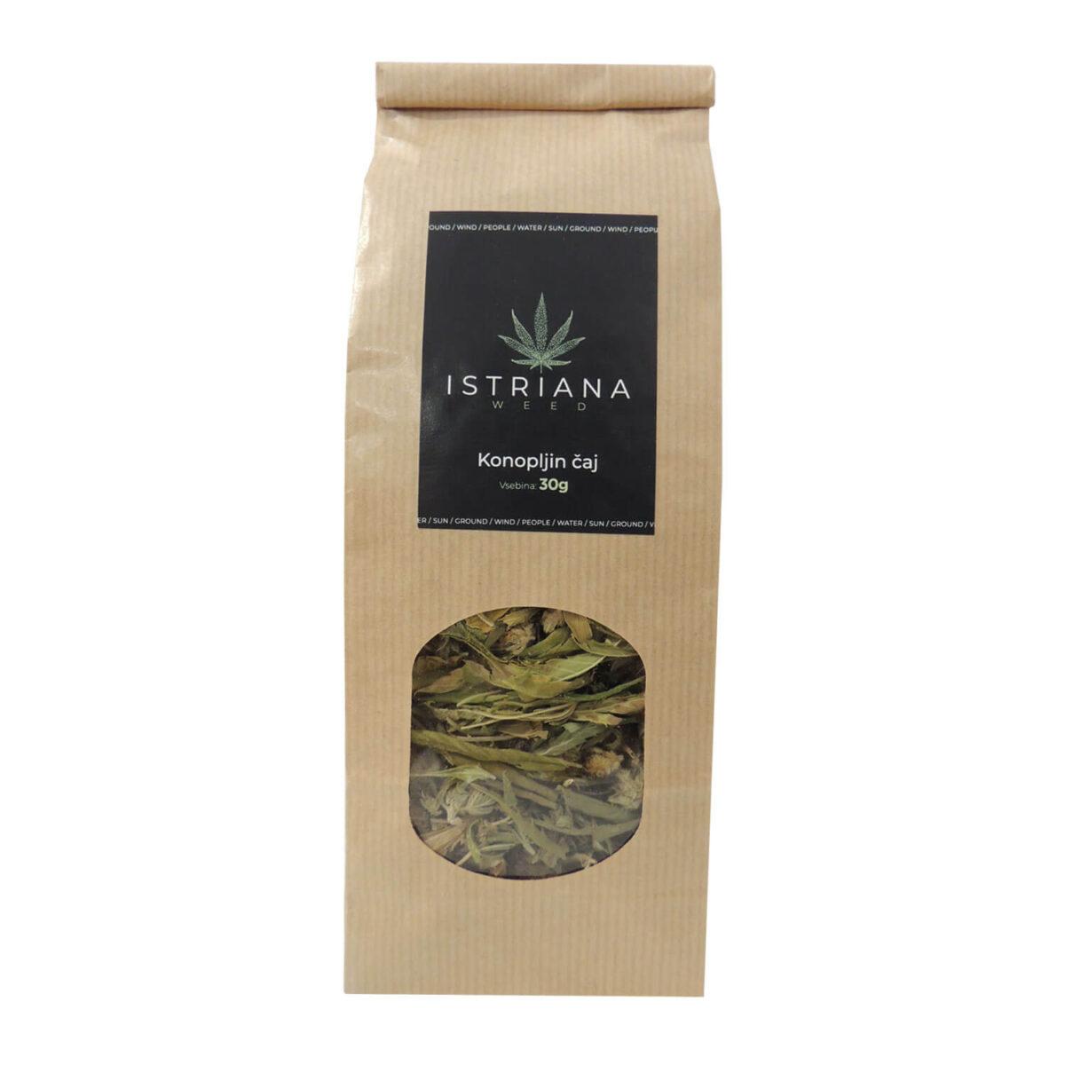 Konopljin čaj Istriana, 30 gramov. Korenika & Moškon.